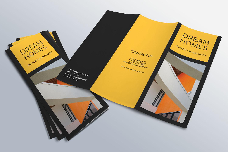 Trifold Real Estate Printable Brochure |Templates PSD/AI A4 example image 7