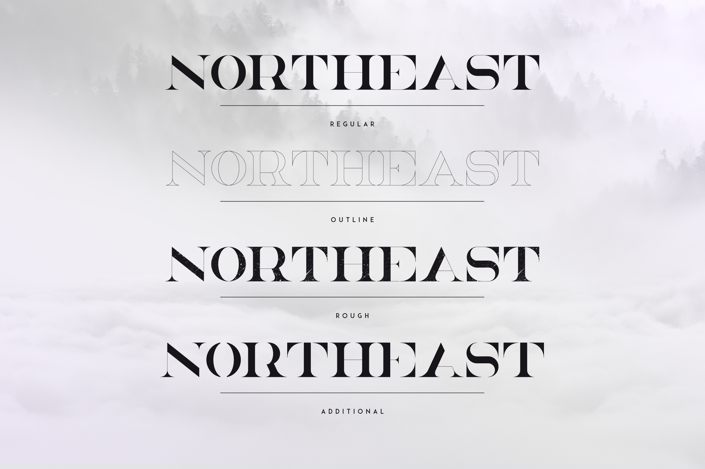 NorthEast - 4 serif fonts example image 2