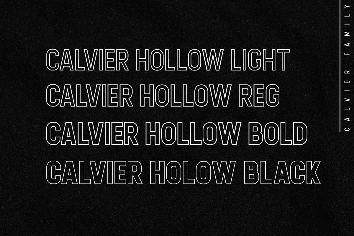 Calvier - Headline Sans Family example image 4