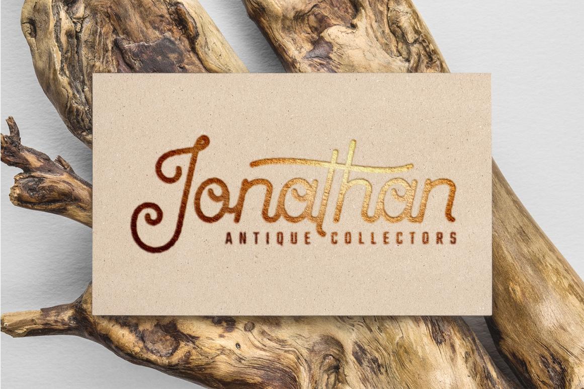 Antiqueline - Monoline Typeface example image 5