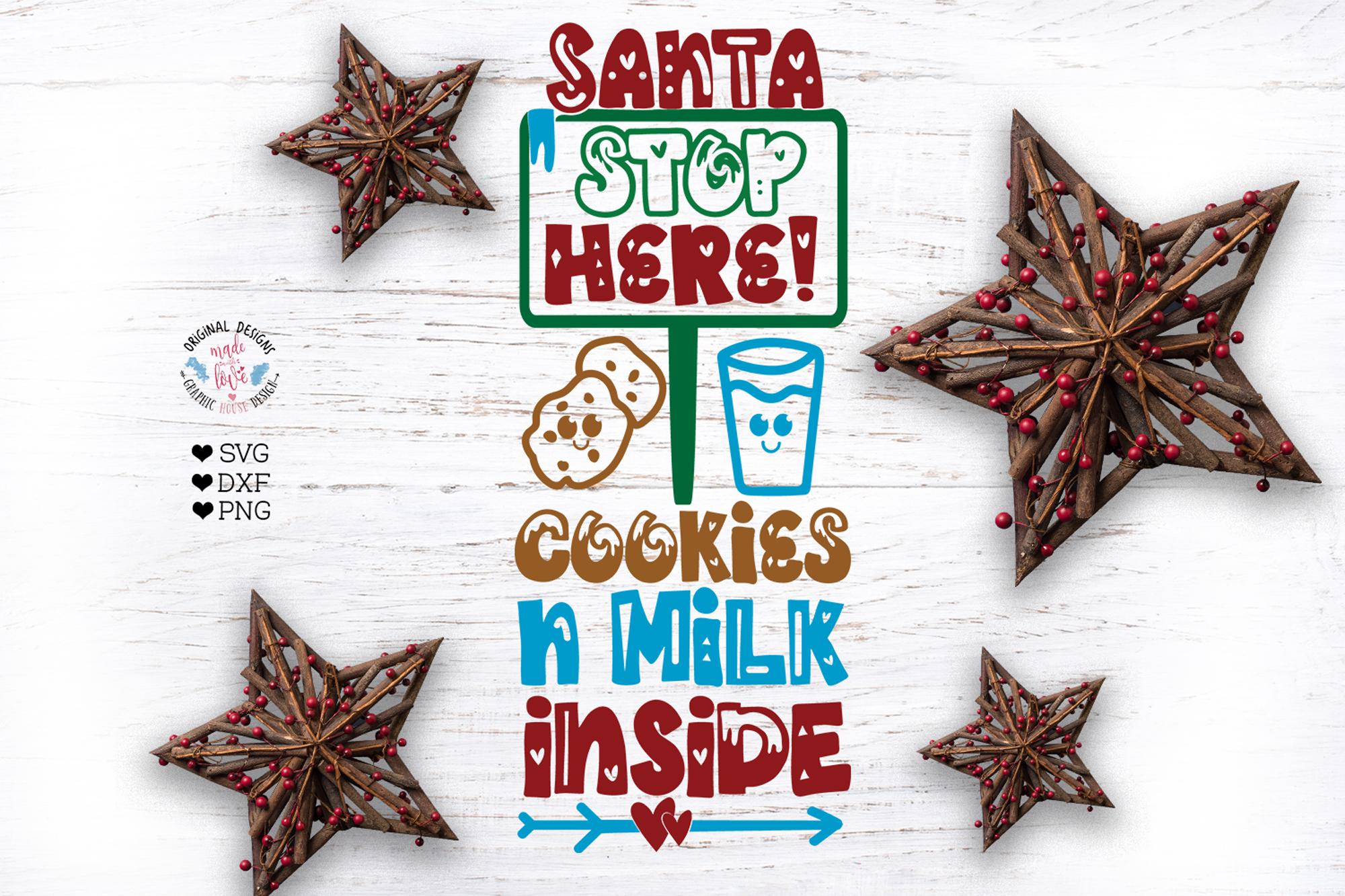 Santa Stop Here Cut File example image 2