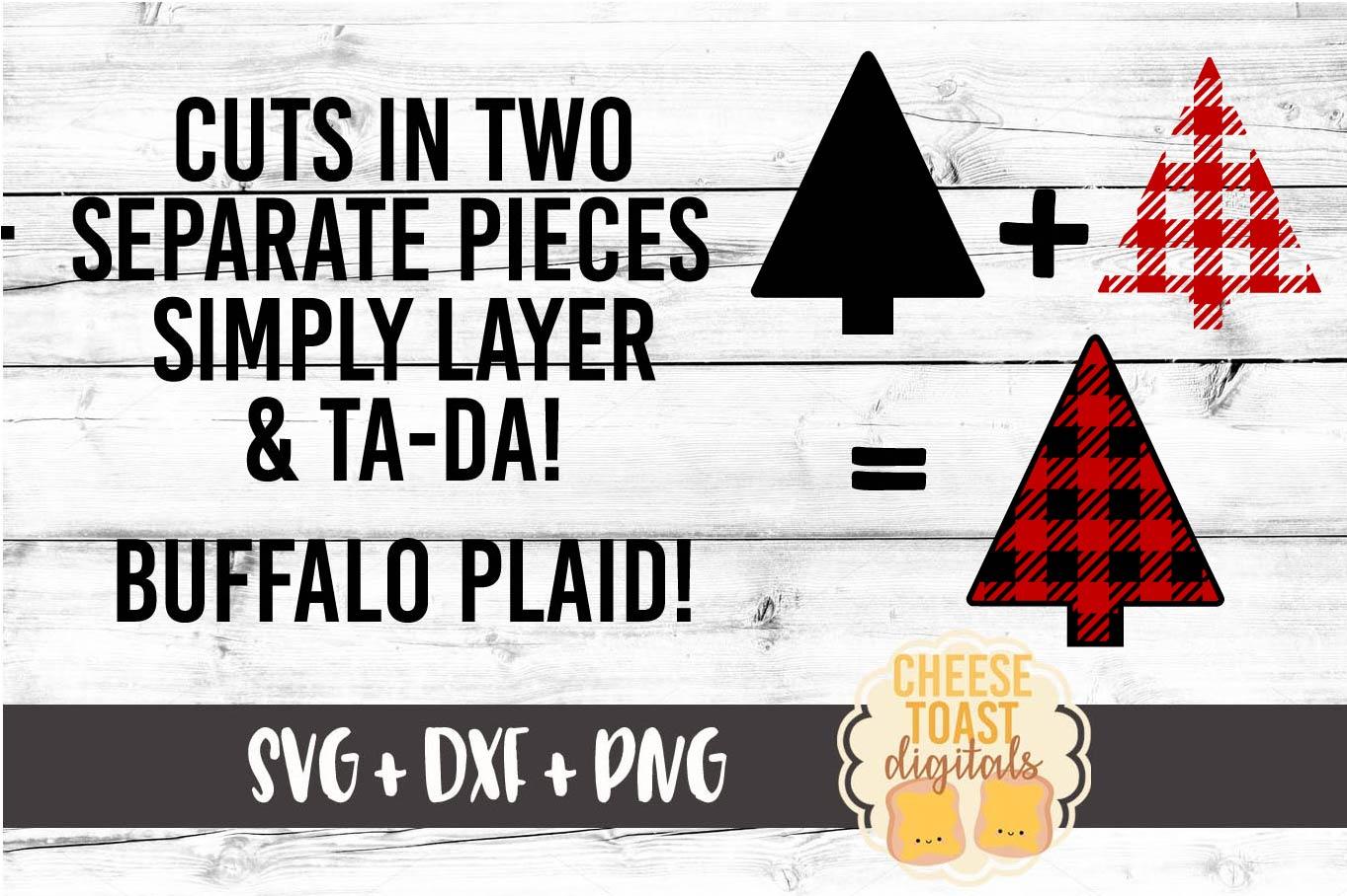 Merry Christmas Buffalo Plaid Trees - Christmas SVG Files example image 2