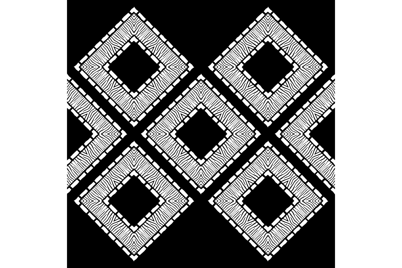 Zebra stripes. Ethnic boho ornament. 10 seamless patterns. example image 9
