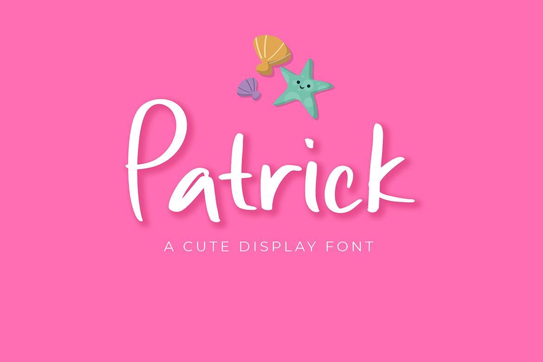 Patrick Cute Display Font example image 1