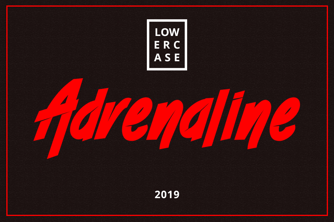 ADRENALINE FONT example image 2
