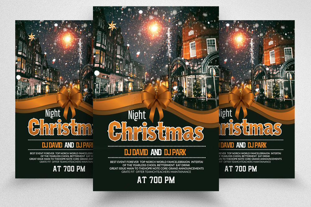 Christmas Party Night Flyer Template example image 1