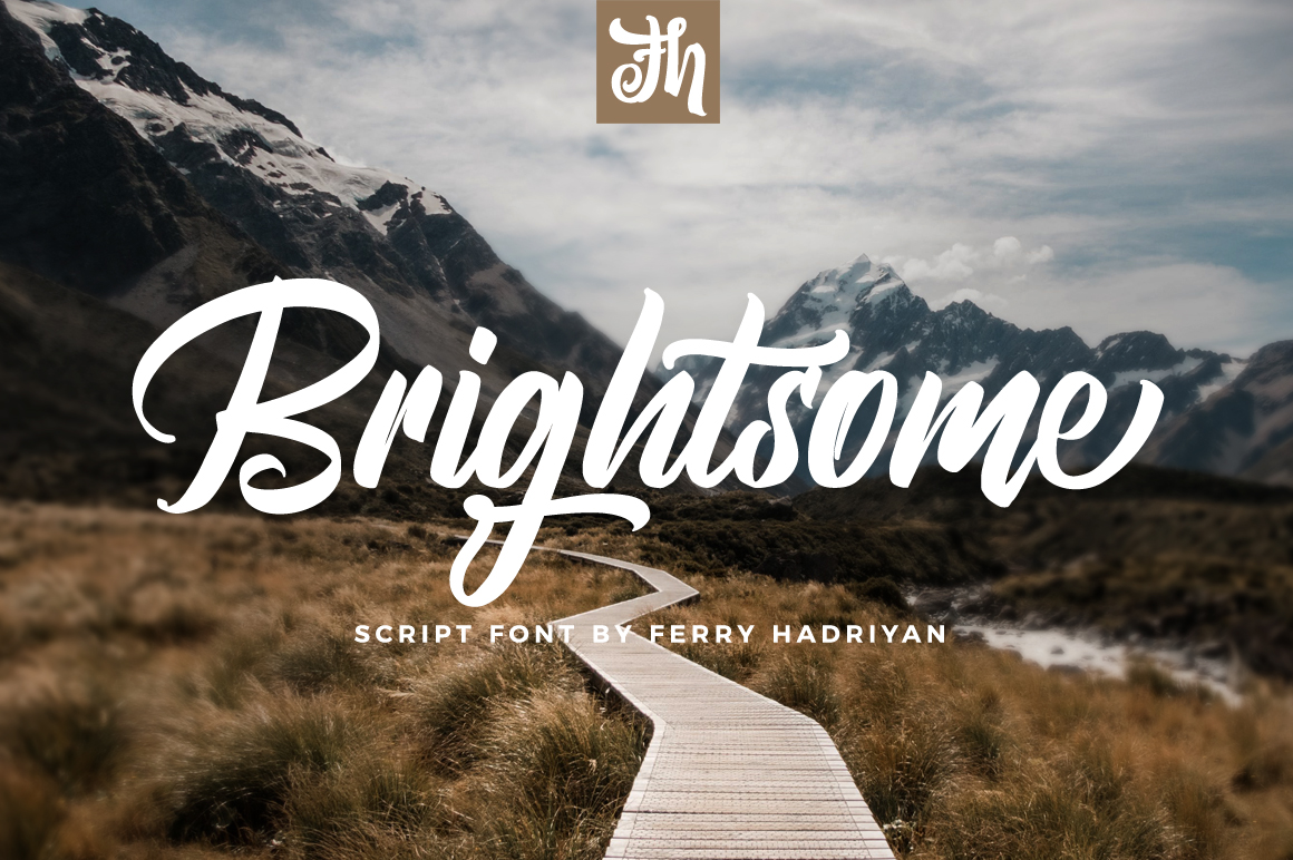 Brightsome - Script Font example image 1