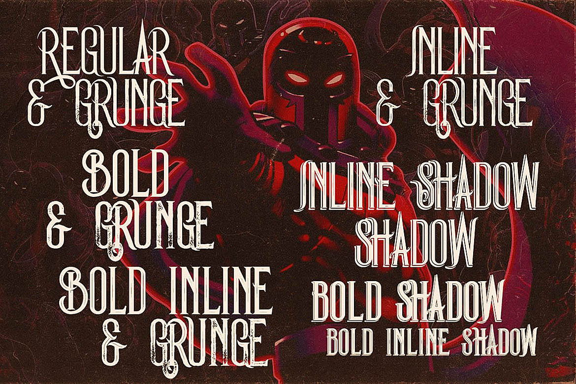 Magneto - Vintage Style Font example image 5