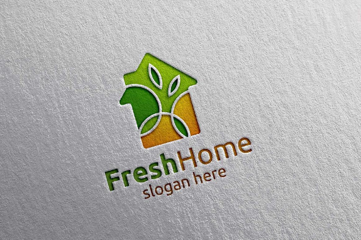 Real estate Logo, Fresh Home Logo 7 example image 3