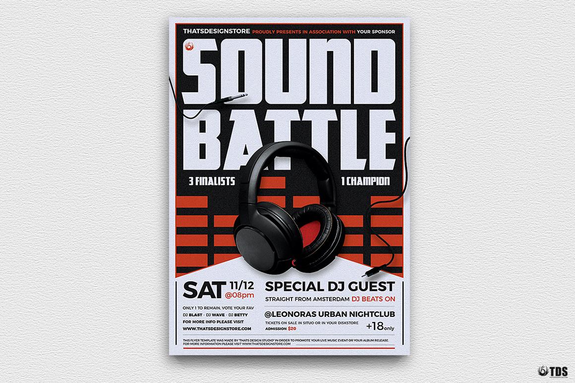 DJ Battle Flyer Template V3 example image 4