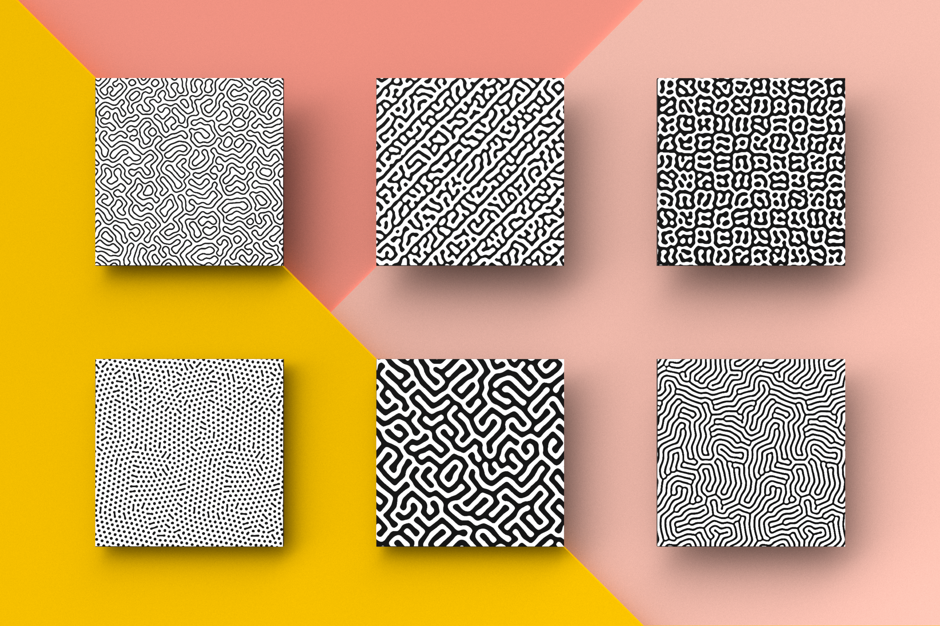 Organic Patterns - 50 trendy seamless textures example image 5