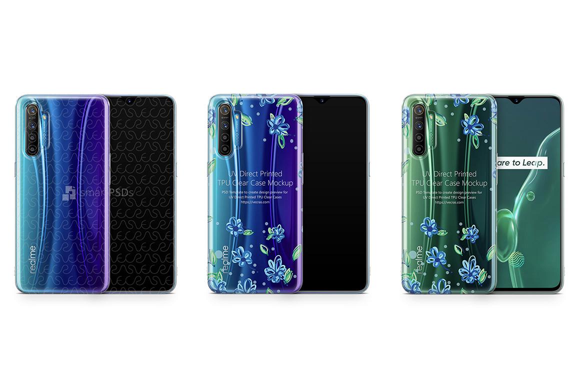 Realme X2 2019 TPU Clear Case Mockup example image 1