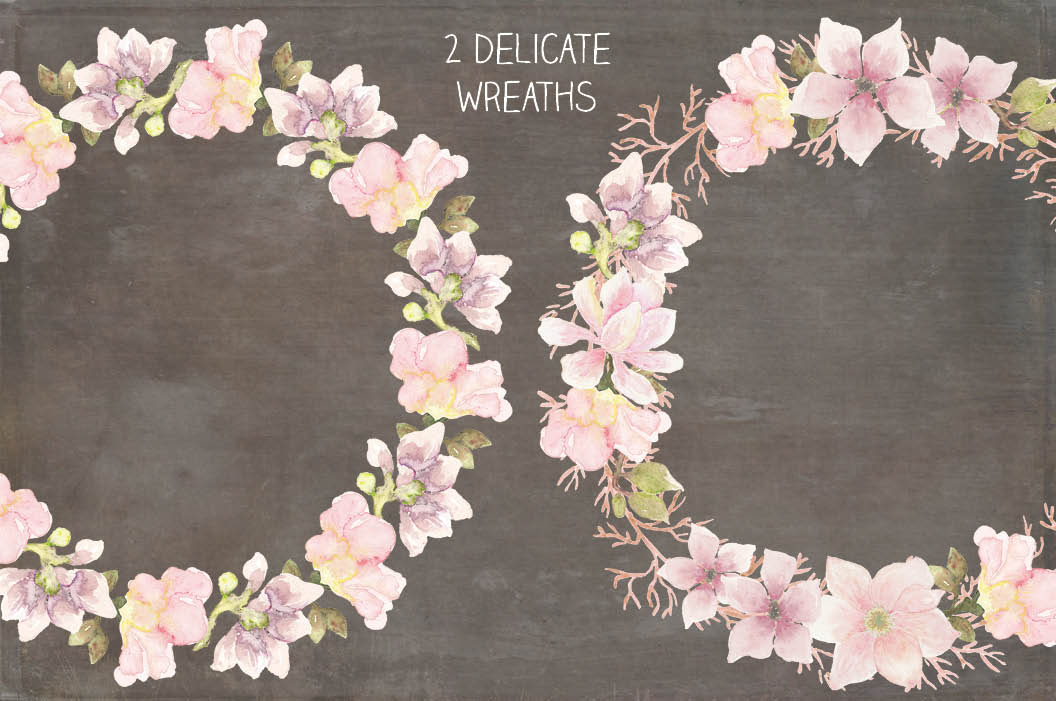 Wedding clip art bundle in blush Magnolias II example image 4