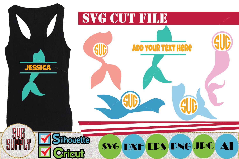 Mermaid Monogram SVG example image 1
