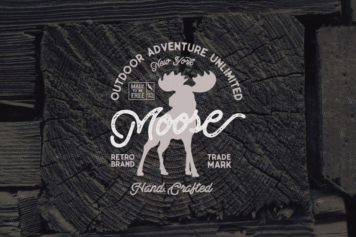 Moose Vintage Label example image 4