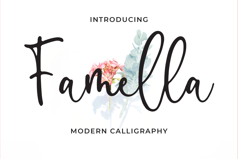 Famella - Modern Calligraphy example image 1