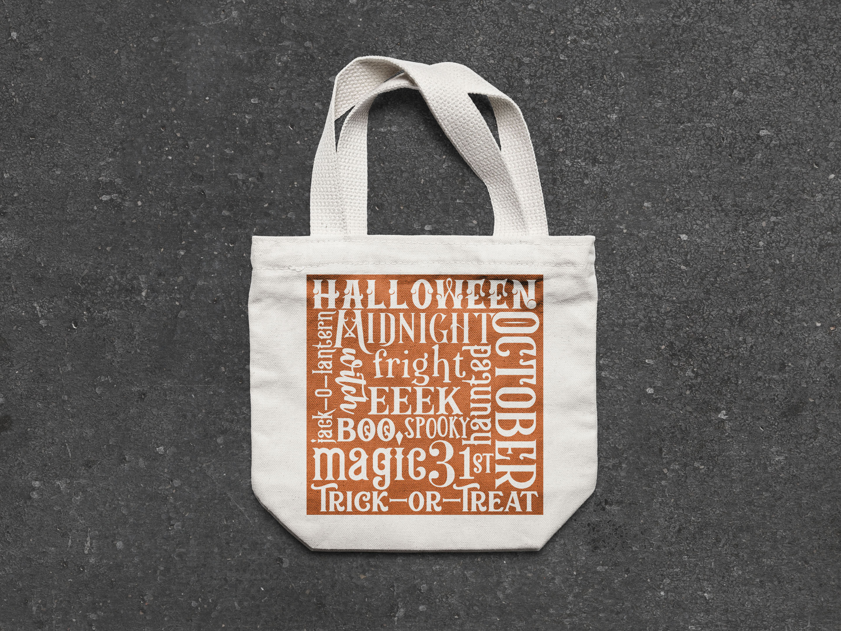 Halloween Word Art SVG For Trick or Treat Bags example image 4