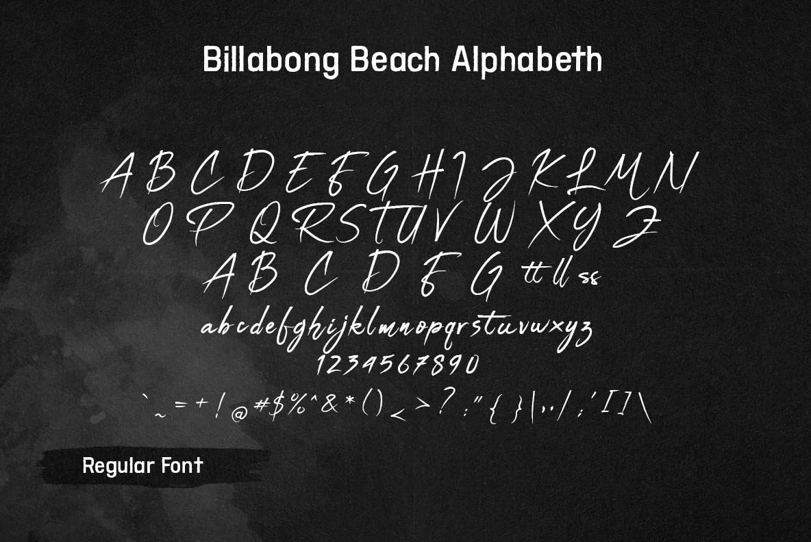 Billabong Beach SVG Font Duo example image 13