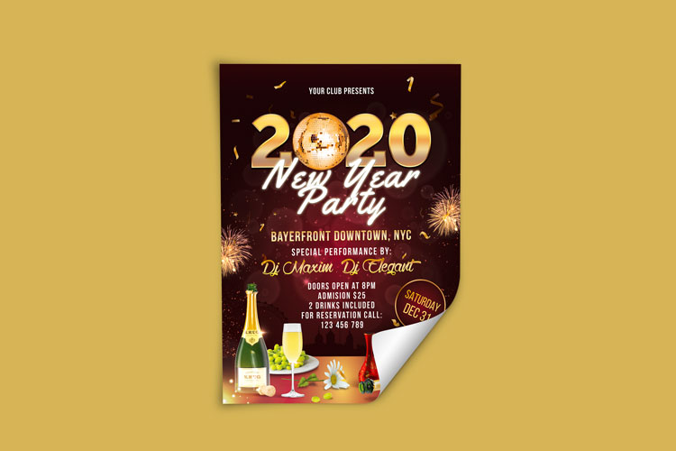 NEW YEAR PARTY FLYER 2 example image 3