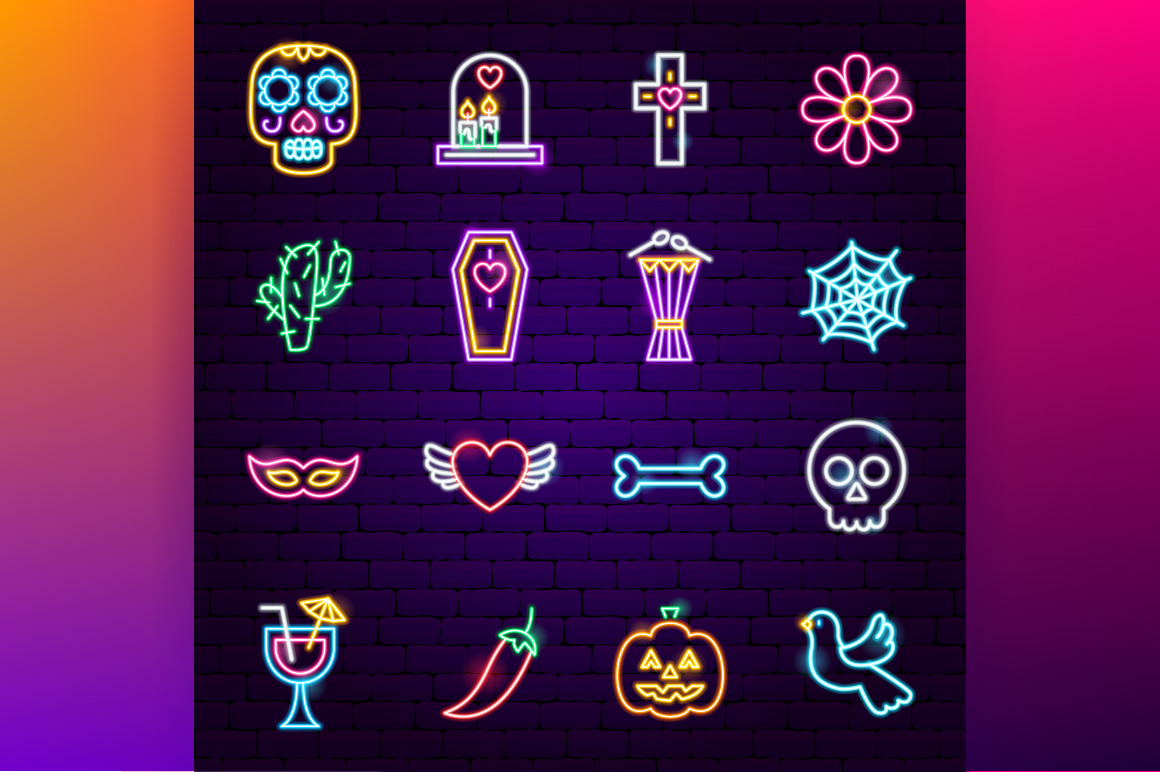 Day of the Dead Neon example image 4