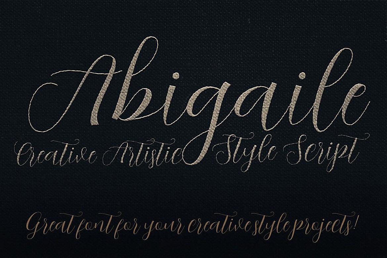Abigaile Script Font example image 4