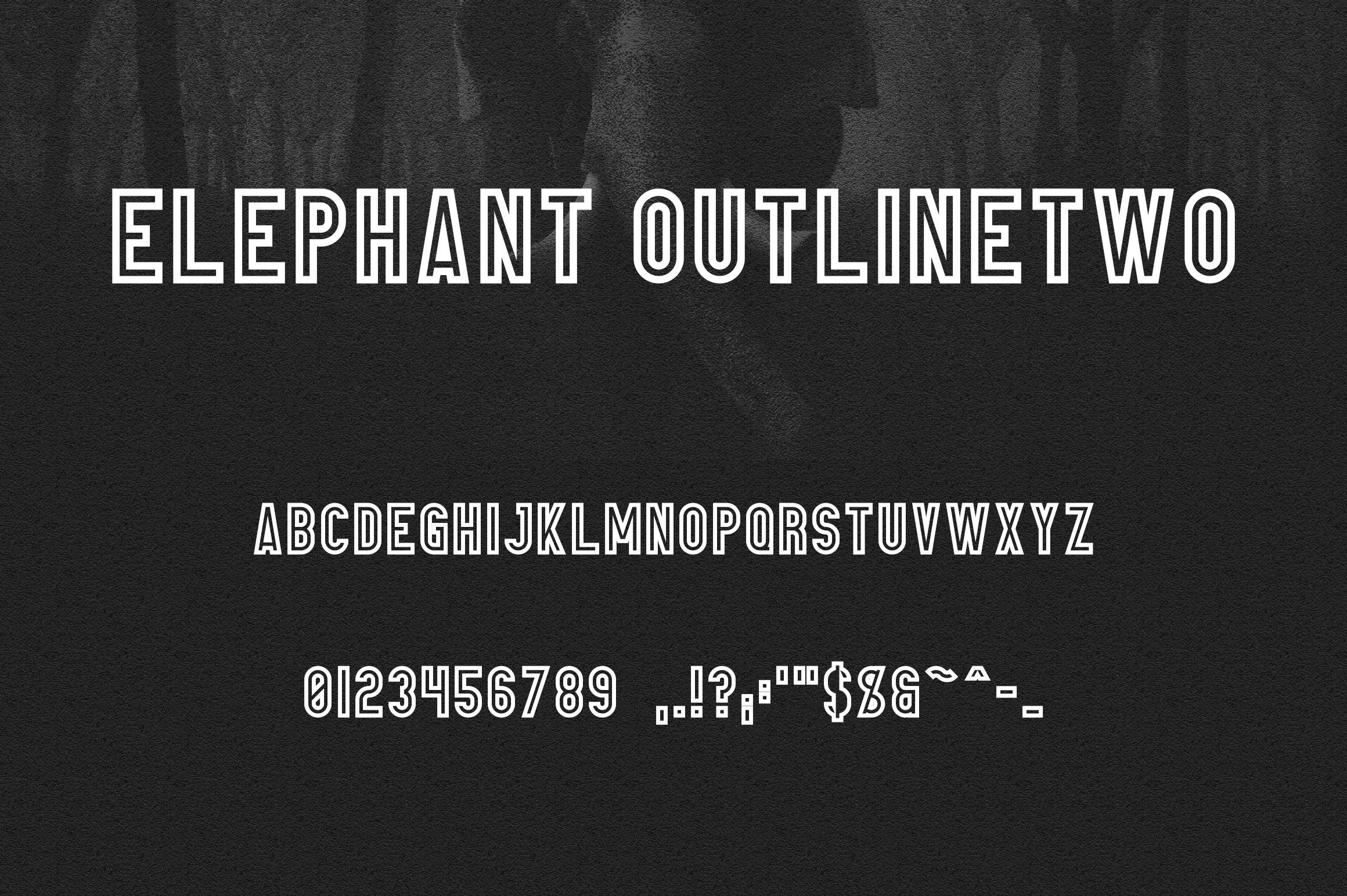 Elephant Font Family example image 12