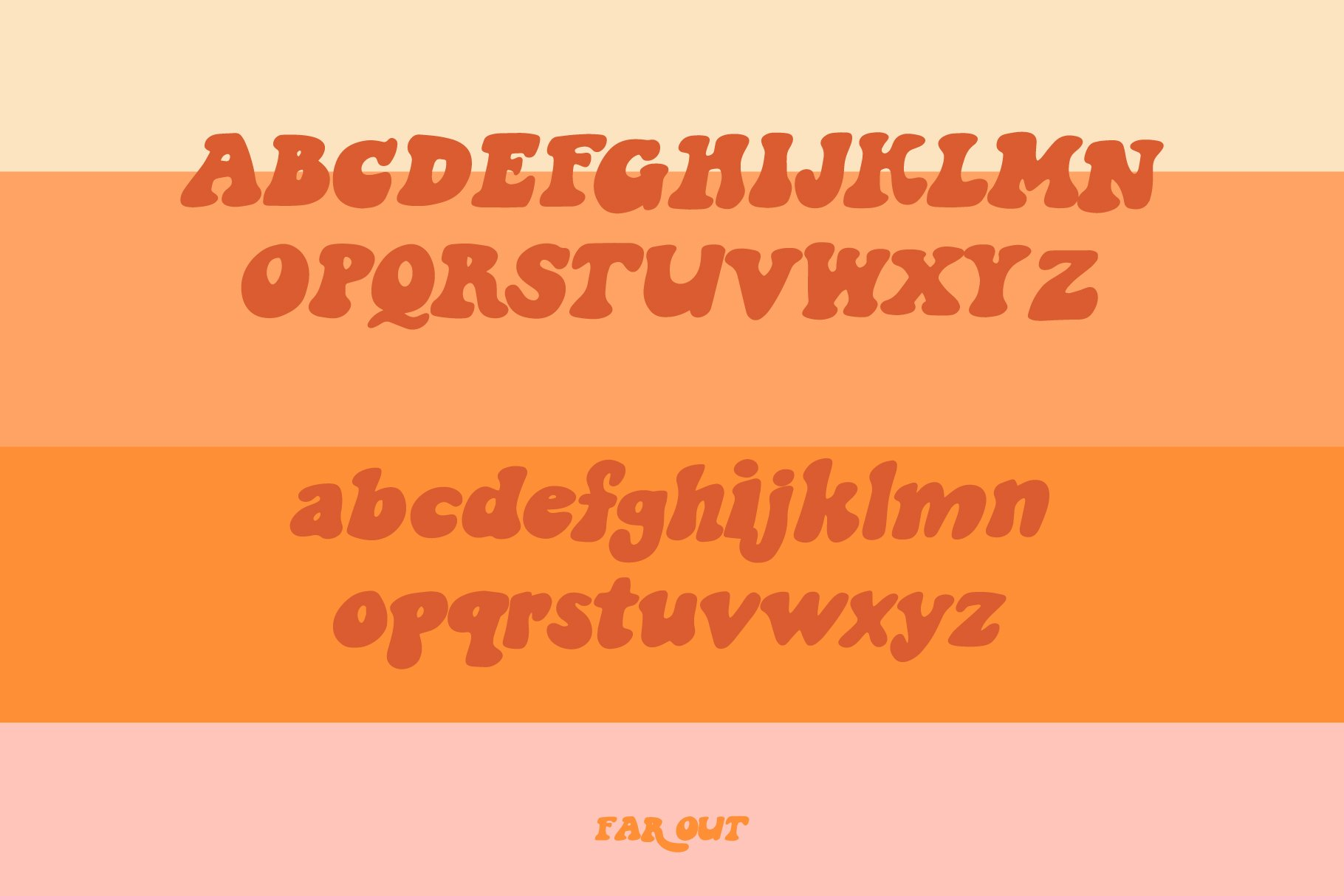 Far Out! - A Groovy Typeface example image 2