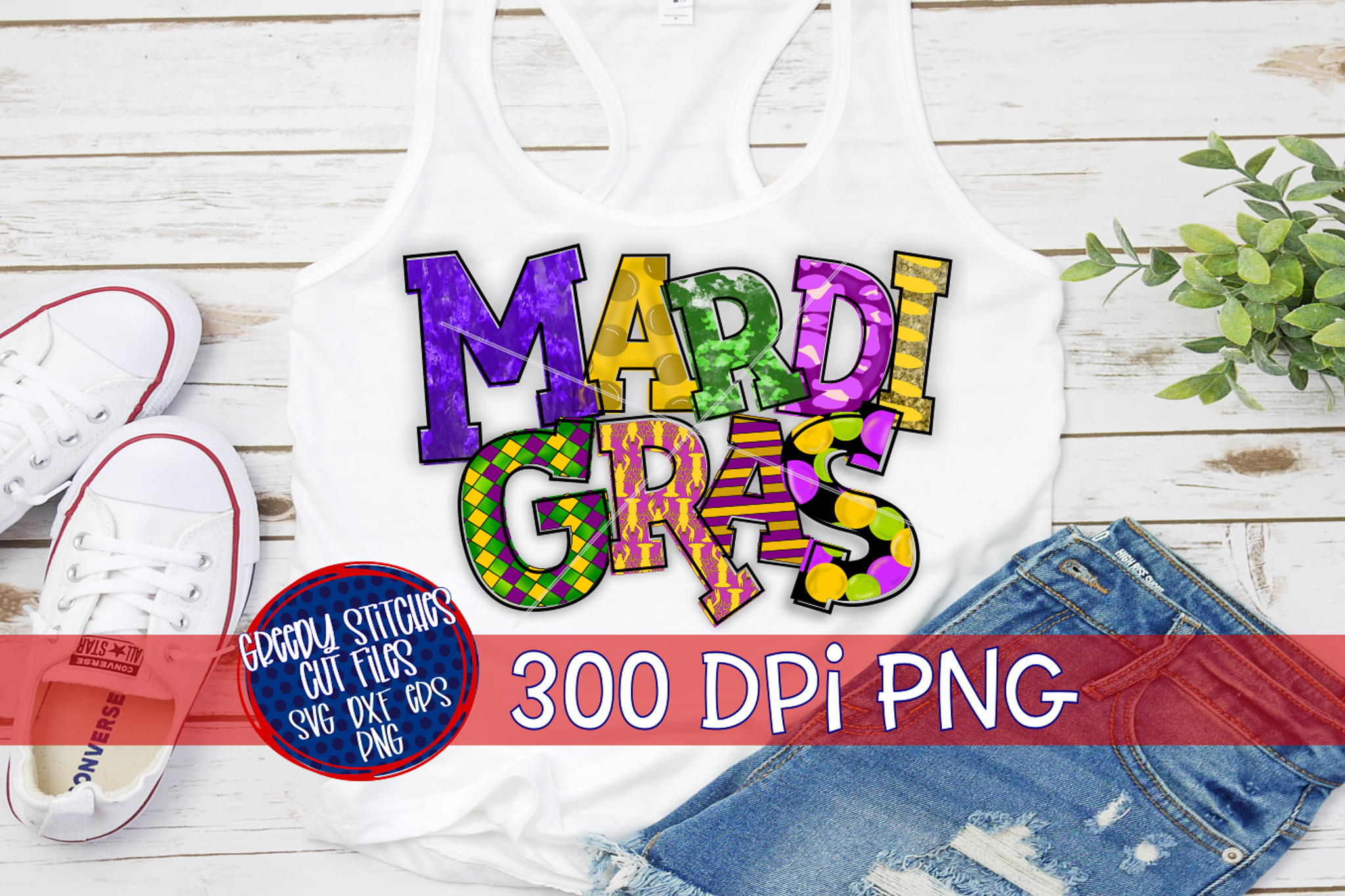Mardi Gras PNG For Sublimation example image 4