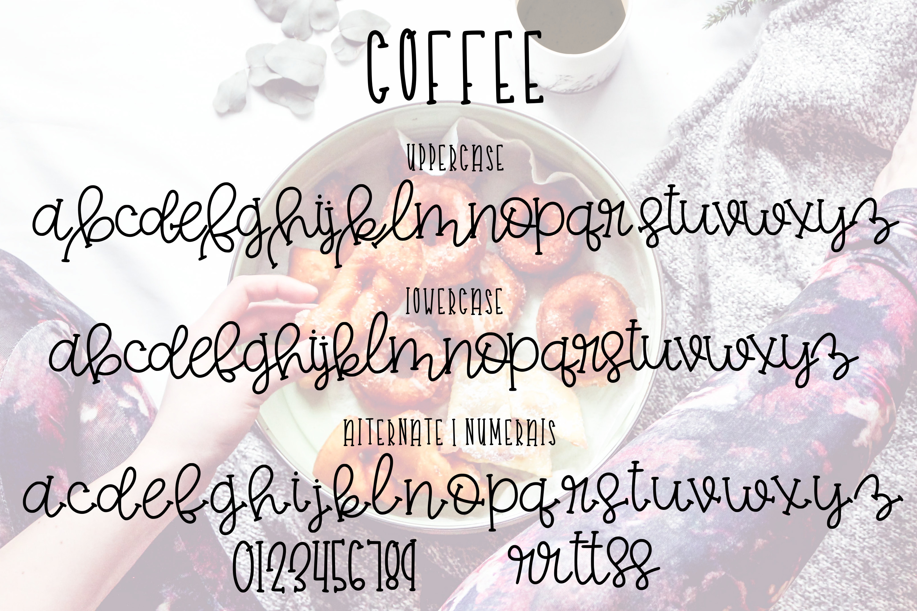 Coffee and Donuts a Font Duo example image 2