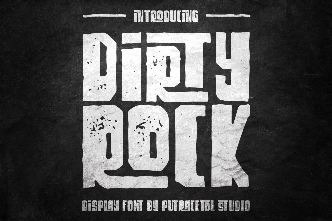 Dirty Rock Typeface example image 1