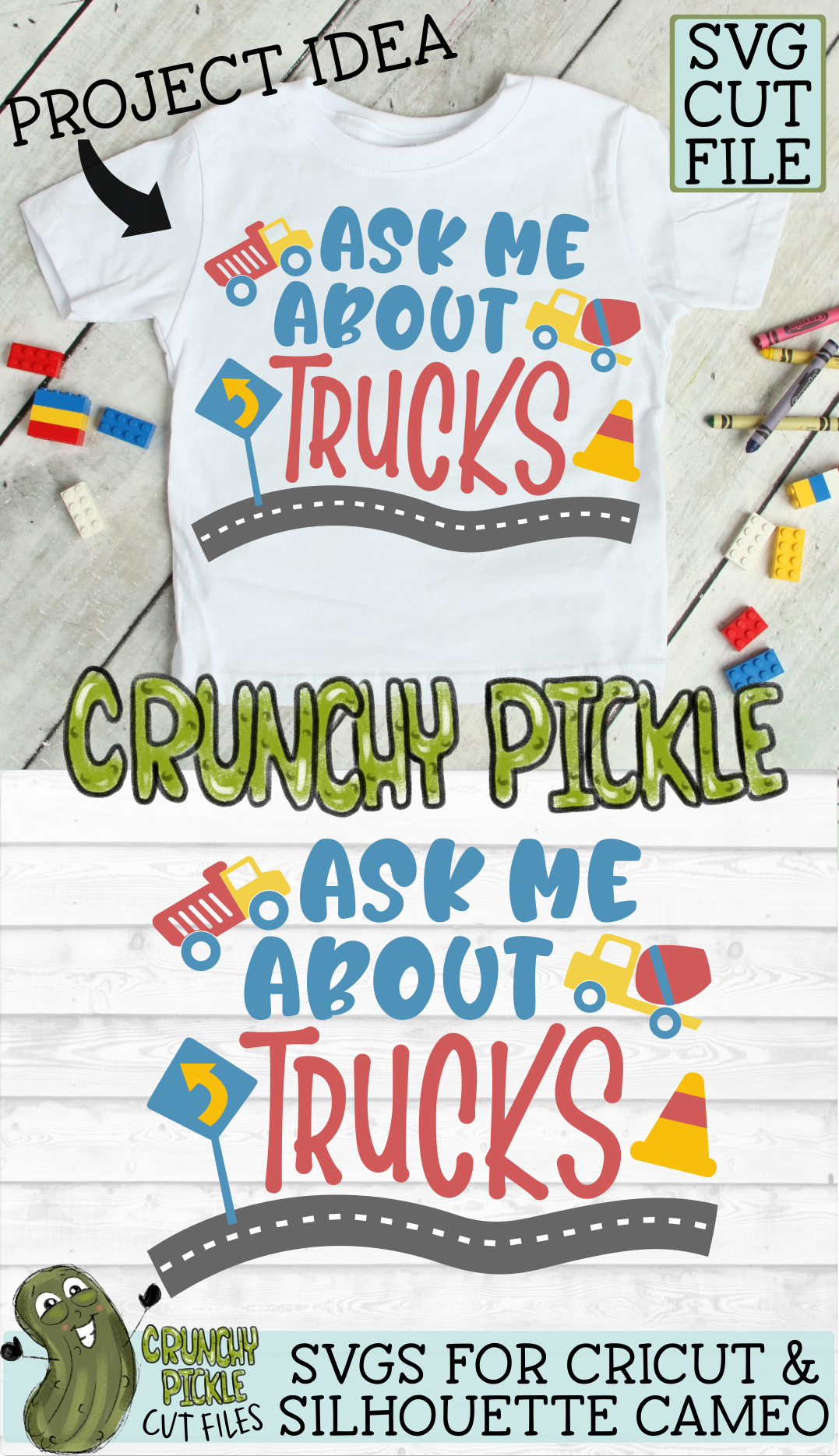Ask Me About Trucks SVG example image 3