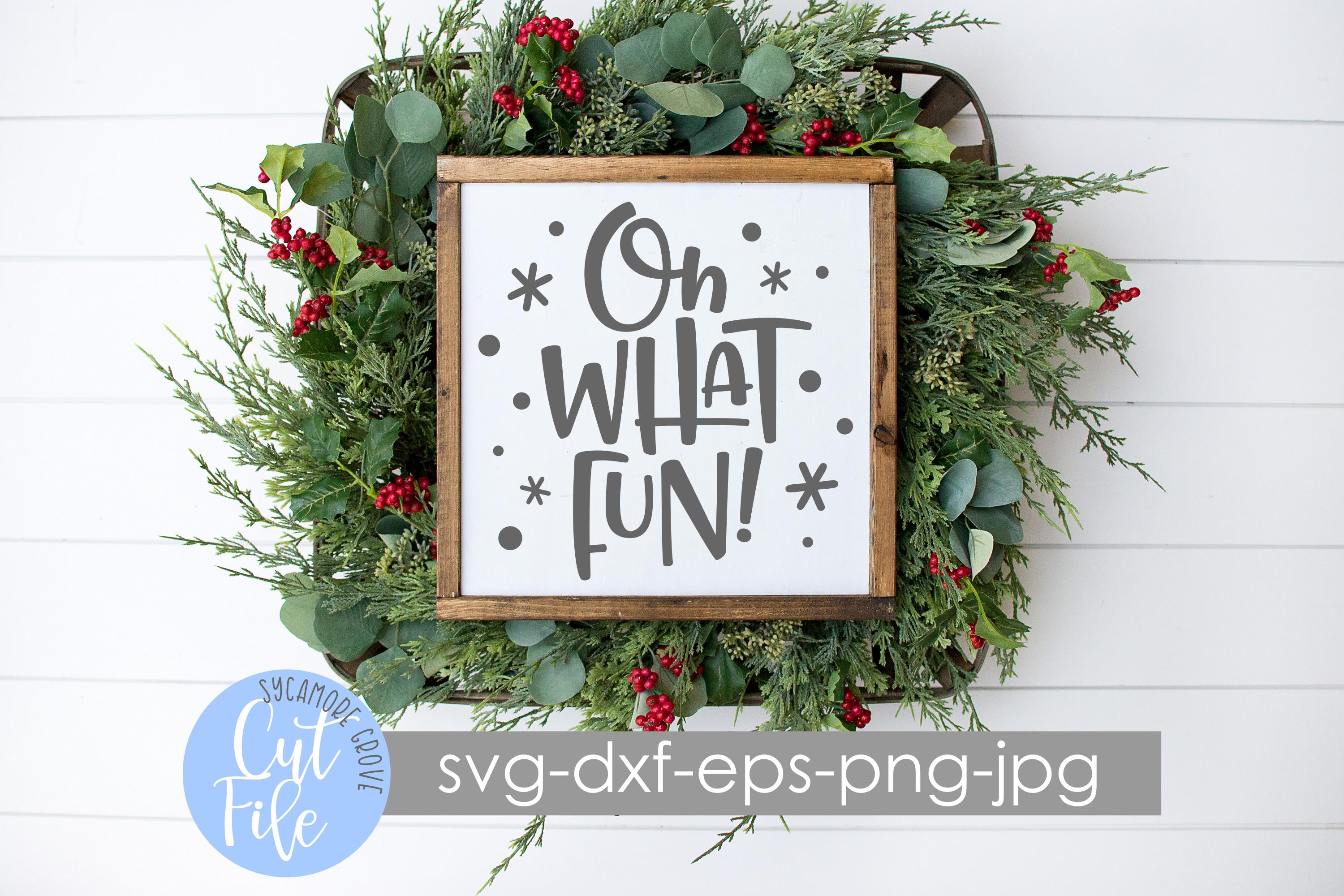 Oh What Fun! | Christmas SVG example image 6