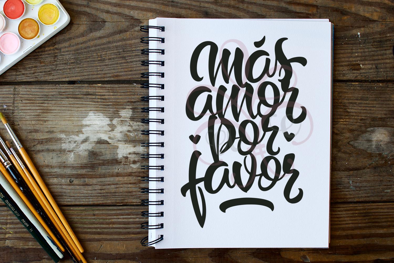 Mas Amor Por Favor SVG Hand-Lettered example image 1