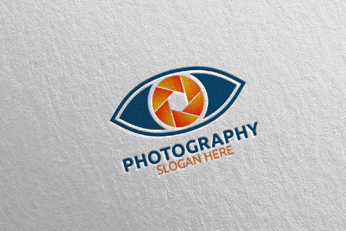 Eyes Camera Photography Logo 14 example image 5