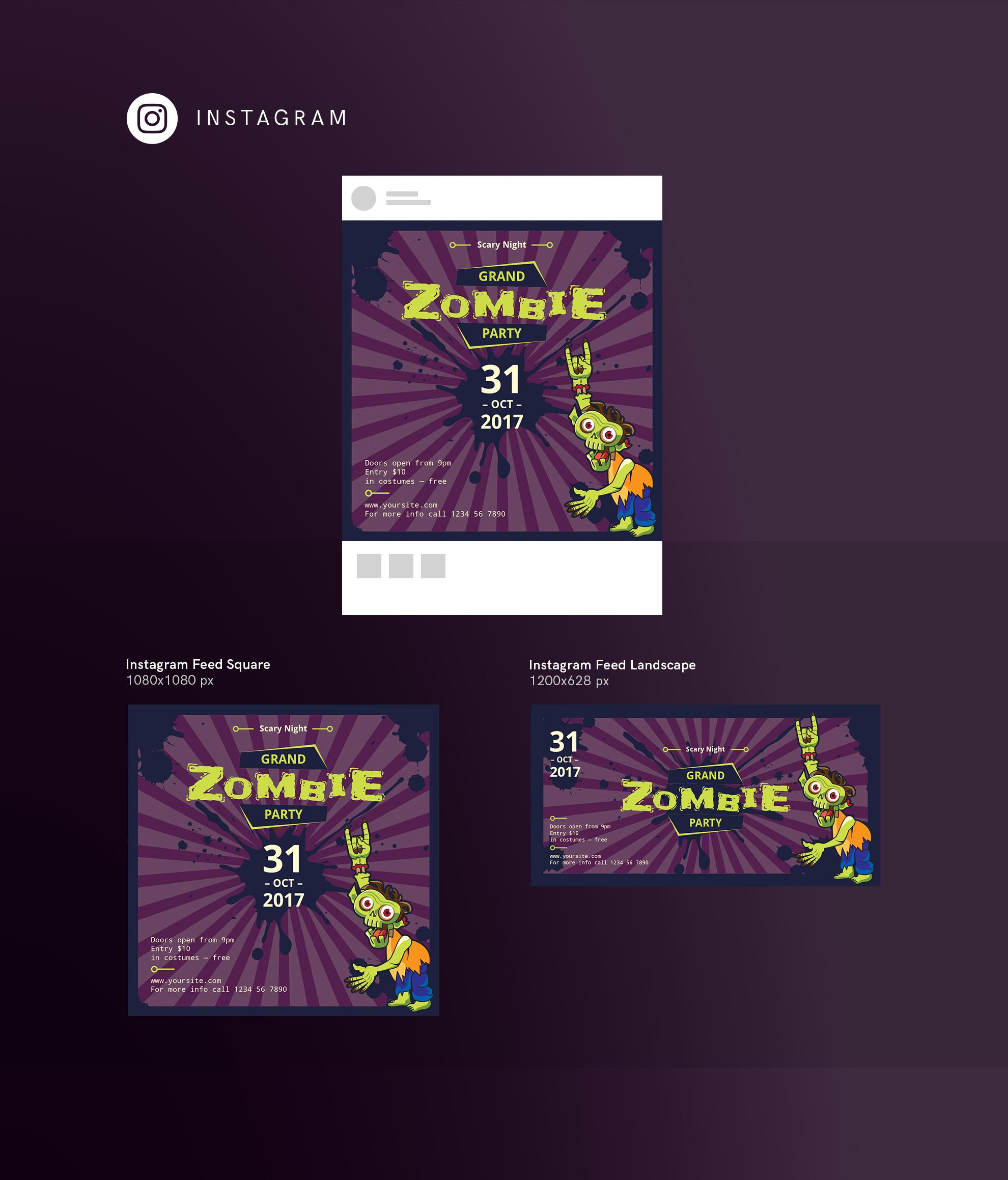 Zombie Party Design Templates Bundle example image 15