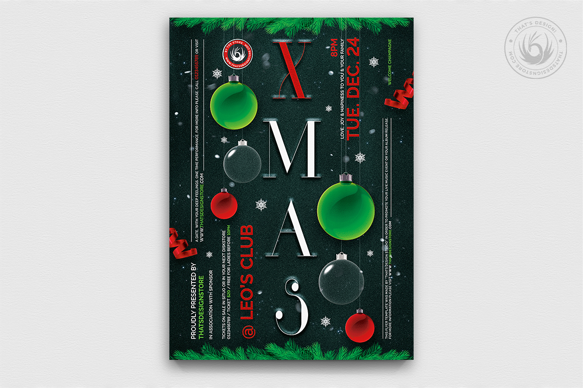 Christmas Eve Flyer Template V13 example image 1