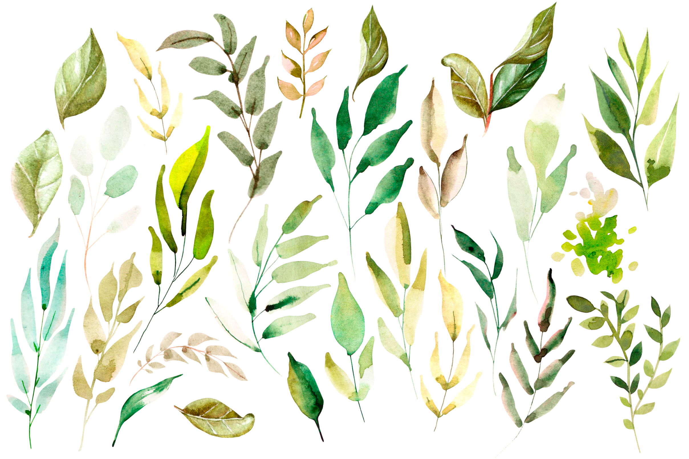 Hand Drawn watercolor Forest example image 6