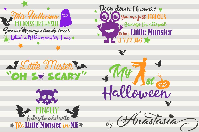 SVG Halloween Bundle -16 Cutting files and 15 Bonus Halloween Elements - Cut Ready SVG for Halloween example image 5