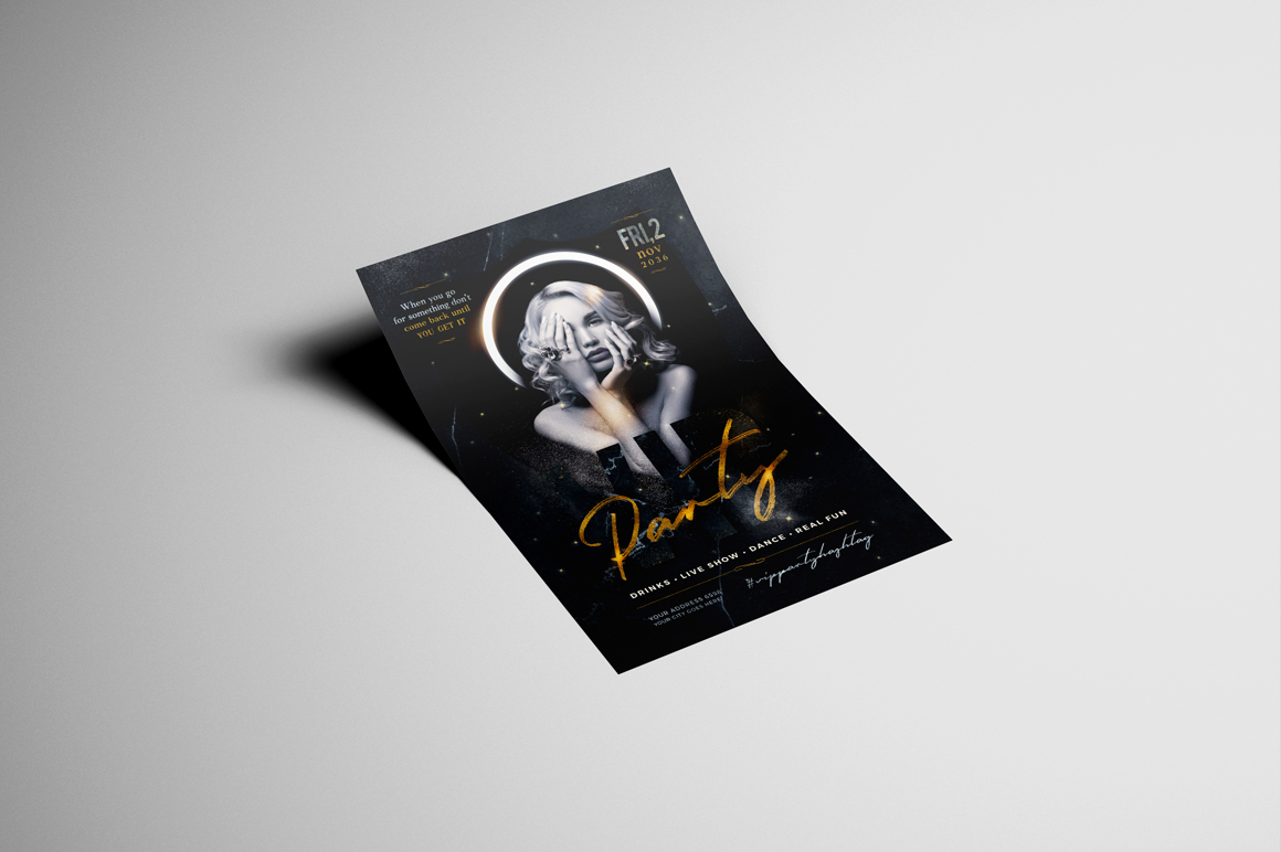 Vip Party Flyer Template example image 3