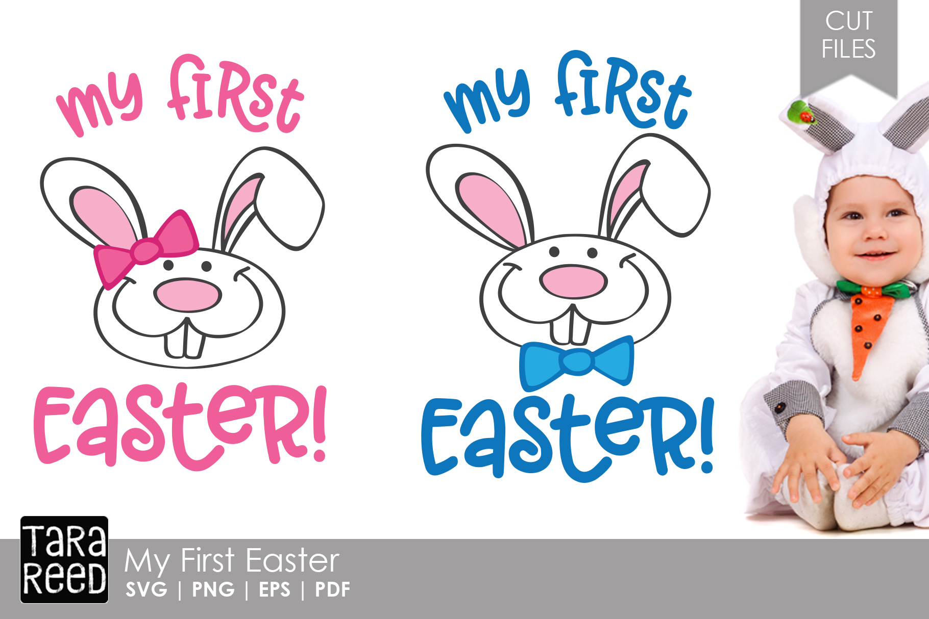 My First Easter - Easter SVG and Cut Files for Crafters example image 1
