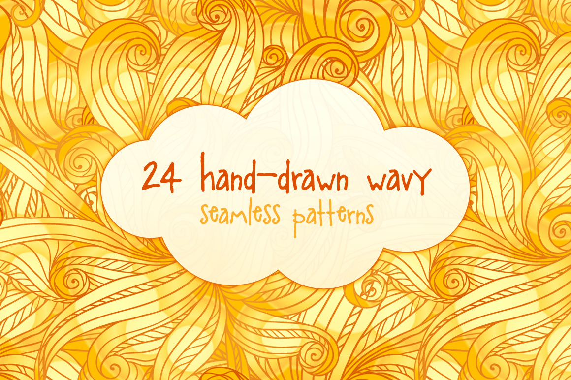 24 hand-drawn seamless patterns example image 1