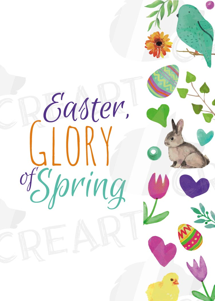 Easter greeting cards, 6 Happy Easter cards, colorful cards example image 11