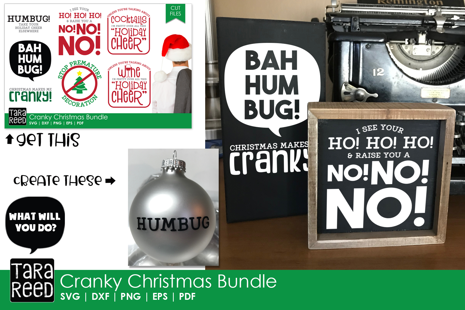 Christmas Humor MEGA Bundle - SVG and Cut Files for Crafters example image 7