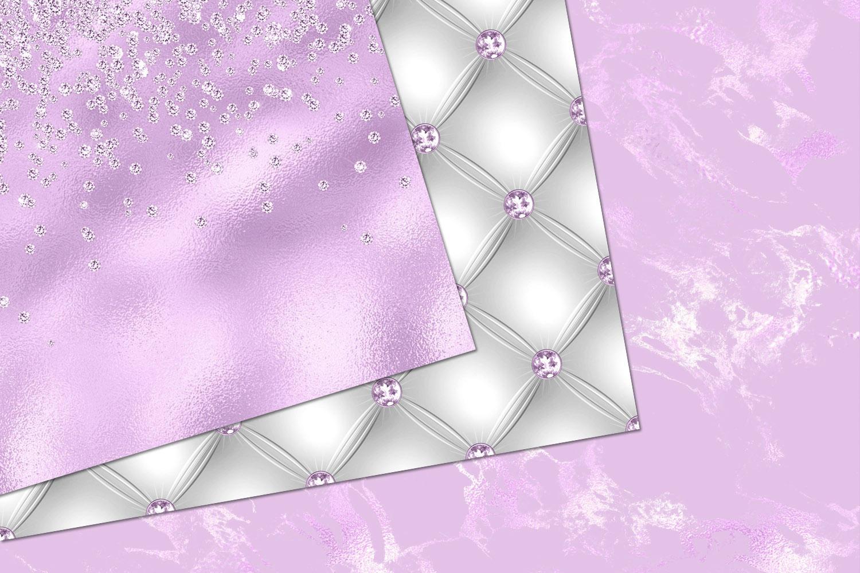 Glitzy Purple Digital Paper example image 4