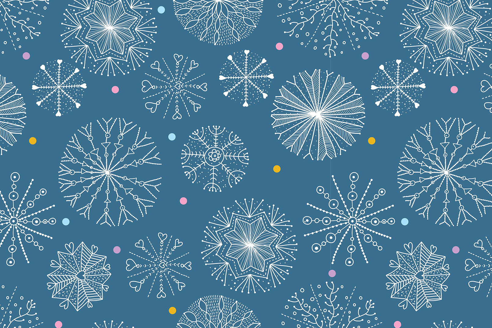 Snowflakes.Winter pattern. example image 5