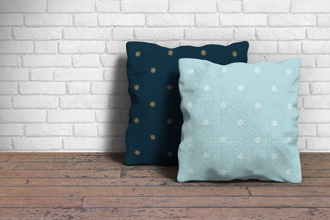 Simple seamless winter patterns example image 4