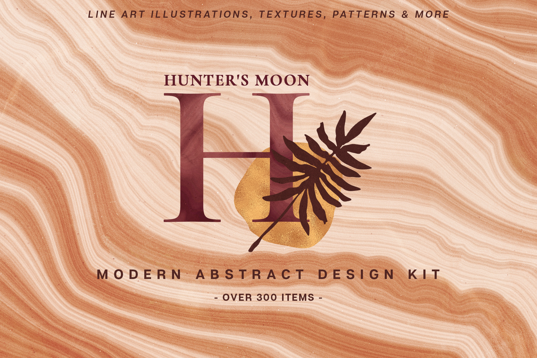 Abstract Line Art Design Kit example image 1