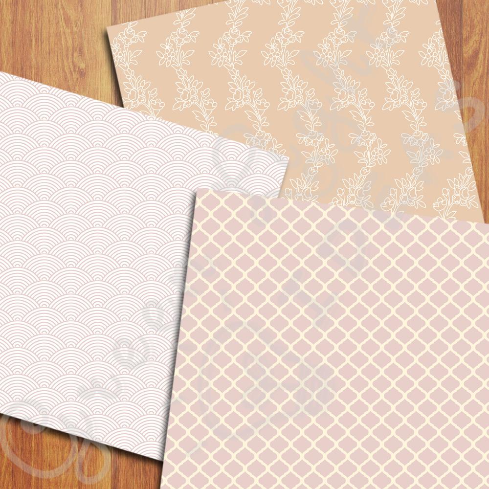 Elegant Wedding Digital Papers example image 3