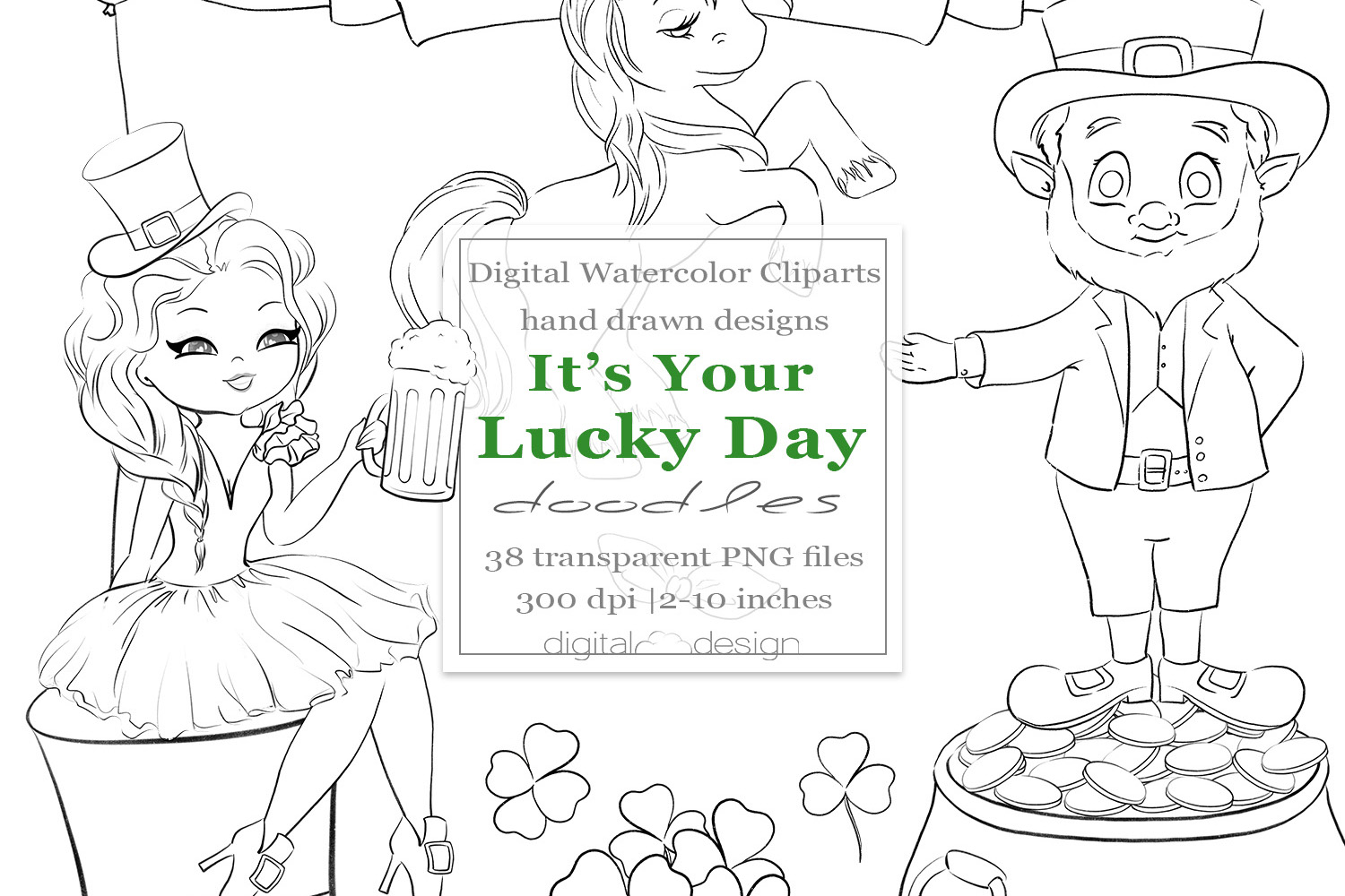 Its Your Lucky Day - Doodles example image 1