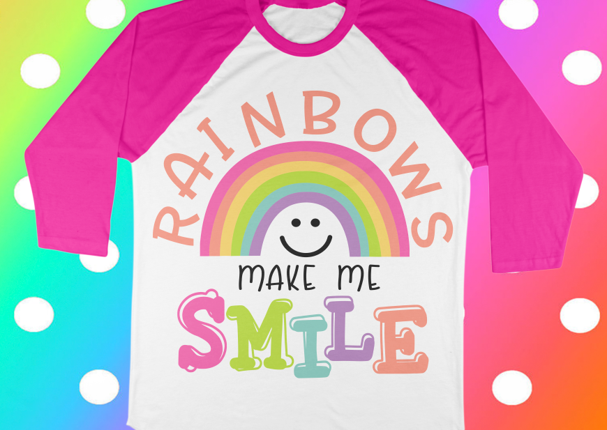 Rainbow svg - Summer svg - Girls svg - Unicorn svg - Smile svg - Magical svg - Sayings svg  example image 1